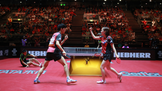 Mixed Doubles Final world table tennis championships in Dusseldorf. 29 May 6 june 2017.